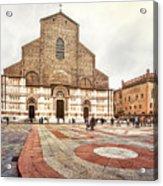 Bologna, Italy San Petronio Basilica Facade Crescentone Acrylic Print