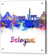 Bologna Skyline In Watercolor Acrylic Print