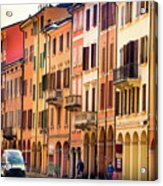 Bologna Window Balcony Texture Colorful Italy Buildings Acrylic Print