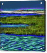 Bolsa Chica Wetlands I Abstract 1 Acrylic Print
