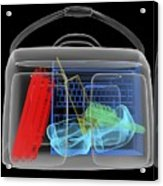 Bomb Inside Briefcase, Simulated X-ray Acrylic Print by Christian Darkin