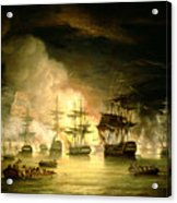 Bombardment Of Algiers Acrylic Print by Thomas Luny