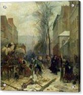 Bombardment Of Paris In 1871 Acrylic Print