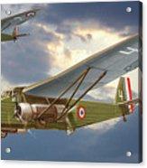 Bombers Farman 222 In Fighting Evening Flight. Acrylic Print