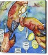 Bon Appetit Favorite Food Left Image Diptych Acrylic Print