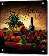 Bon Appetit Acrylic Print by Lourry Legarde