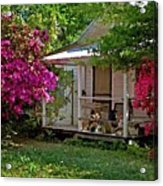 Bon Secour Pink Porch Acrylic Print