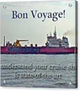 Bon Voyage Greeting Card - Enjoy Your Cruise Acrylic Print