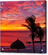 Bonaire Sunset 1 Acrylic Print