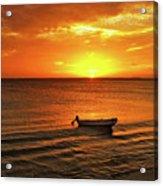Bonaire Sunset 4 Acrylic Print