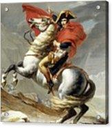 Bonaparte Crossing The Alps Acrylic Print