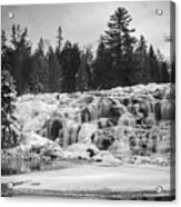 Bond Falls In Black And White Acrylic Print
