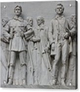 Bonham And Bowie On Alamo Monument Acrylic Print