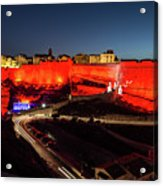 Bonifacio Fortress At Night Acrylic Print
