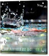 Bonne Annee Card Acrylic Print