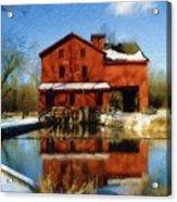 Bonneyville In Winter Acrylic Print