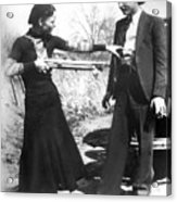 Bonnie And Clyde, 1933 Acrylic Print