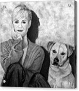 Bonnie Hunt And Charlie Acrylic Print