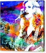 Bonnie Raitt Color Splash Acrylic Print