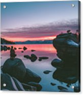 Bonsai Rock Sunset Acrylic Print