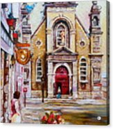 Bonsecours Church Acrylic Print