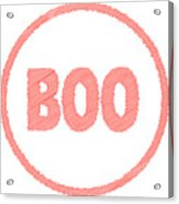 Boo Rubber Stamp Acrylic Print