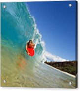 Boogie Boarding At Makena Acrylic Print