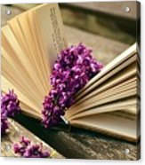 Book And Flower Acrylic Print