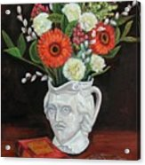 Book And Flowers Acrylic Print