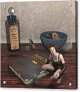 Book Brownie Acrylic Print