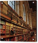 Book Browsing Acrylic Print