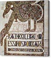 Book Of Lindisfarne Initial Acrylic Print