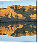 Bookcliffs Reflections Acrylic Print