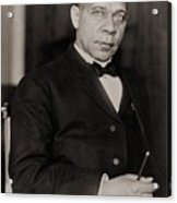 Booker T. Washington 1856-1915, Became Acrylic Print
