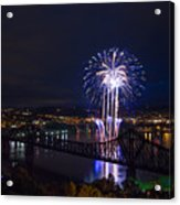 Fireworks In Beaver County  Acrylic Print
