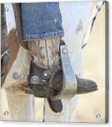 Boot And Spur Acrylic Print