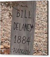 Boot Hill, Tombstone, Az Acrylic Print