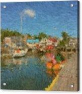 Boothbay Harbor At 5 Acrylic Print