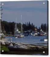 Boothbay Harbor In Maine Acrylic Print
