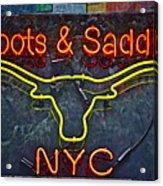 Boots And Saddle Nyc Acrylic Print