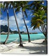 Bora Bora Beach Hammock Acrylic Print