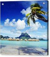 Bora Bora, Lagoon Resort Acrylic Print by Himani - Printscapes