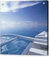 Bora Bora, Outrigger Acrylic Print