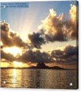 Bora Bora Sunset  Acrylic Print
