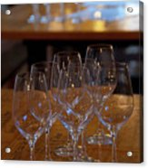Bordeaux Wine Glasses Acrylic Print