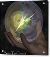 Born To Create - View With Or Without Red-cyan 3d Glasses Acrylic Print