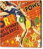 Born To Dance 1936 Retro Movie Poster Acrylic Print