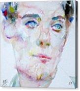 Bosie - Lord Alfred Douglas - Watercolor Portrait Acrylic Print