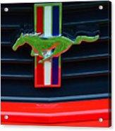 Boss 302 Ford Mustang Emblem Acrylic Print
