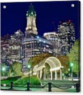 Boston Above Christopher Columbus Park Acrylic Print